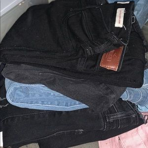 4 pairs of Hollister jeans